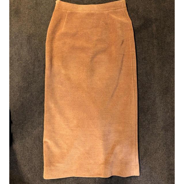 Demi-Luxe BEAMS(デミルクスビームス)のヌードピンク スリットタイトスカート レディースのスカート(ひざ丈スカート)の商品写真