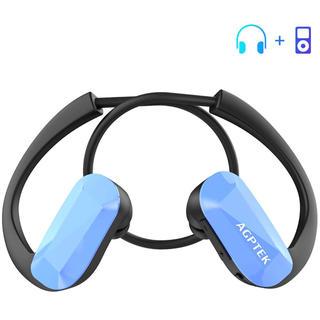【新品未使用】ヘッドホン一体型 MP3プレーヤー(ポータブルプレーヤー)