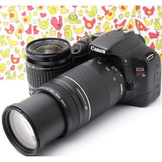 キヤノン(Canon)の❣️超望遠・動画も撮れる❣️Canon EOS KISS X4 Wレンズキット(デジタル一眼)