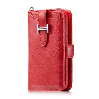 iPhone 8 Plus ケース、elecfanJ 高級PUレザー 財布型 カ(iPhoneケース)