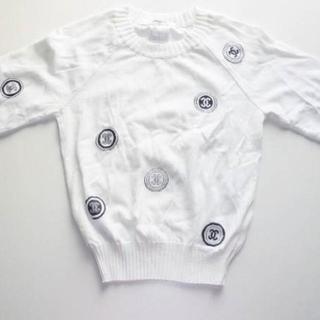 シャネル(CHANEL)のシャネルロゴいっぱいニットセーター長袖TシャツCHANEL服(ニット/セーター)