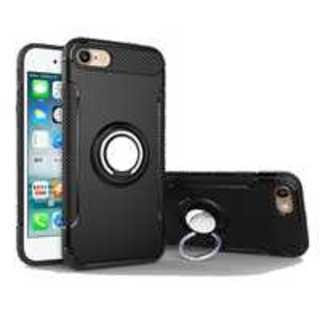 ★【ブラック】耐衝撃 iPhone 6plusケース リングホルダー付き(iPhoneケース)