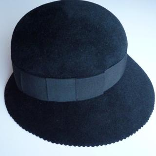 シャネル(CHANEL)のCHANELシャネル帽子お嬢様ハット高級フェルトリボン(ハット)