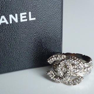 シャネル(CHANEL)の新品CHANELビジューリングシルバーシャネルスワロフスキー(リング(指輪))