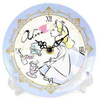 ディズニー プリンセス 置き時計 メラミントレークロック アナログ アリス(キャラクターグッズ)