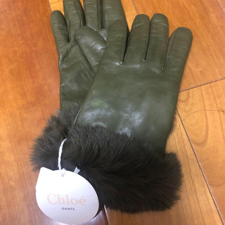 クロエ(Chloe)のクロエ 新品未使用 一部シミ有 タグ付き ラム革(手袋)