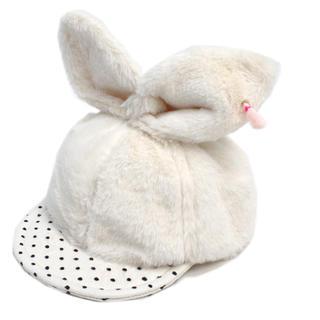 ユニカ(UNICA)の新品未使用★ユニカ  モコモコうさぎちゃんキャップ ホワイト(帽子)