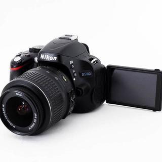 〓自撮り&1690万画素&フルHD動画撮影〓ニコン D5100 レンズ付(デジタル一眼)