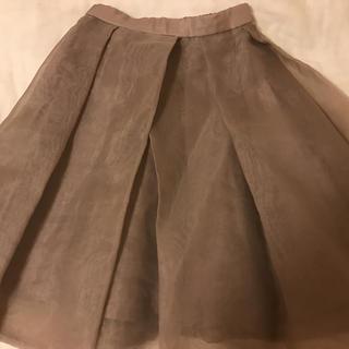 フレイアイディー(FRAY I.D)のフレイアイディー   オーガンジースカート(ひざ丈スカート)