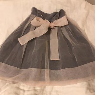フレイアイディー(FRAY I.D)のフレイアイディー   メモリーリボンオーガンスカート(ひざ丈スカート)