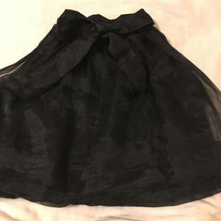 フレイアイディー(FRAY I.D)のフレイアイディー   バックリボンスカート(ひざ丈スカート)