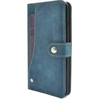 iPhoneケース手帳型 カードケース ブルー(iPhoneケース)
