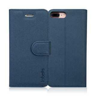 iPhoneケース手帳型 マグネット式  ディープブルー