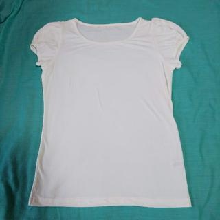 ジーユー(GU)のパフスリーブ Tシャツ Lサイズ d56(Tシャツ(半袖/袖なし))
