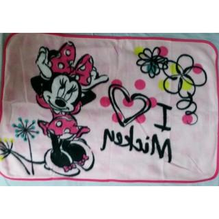 ディズニー(Disney)のミニー ディズニー ピンク 花 水玉 ハート ブランケット(毛布)