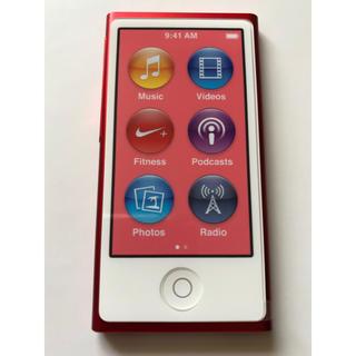 アップル(Apple)の① ipod nano 第7世代  レッド(ポータブルプレーヤー)
