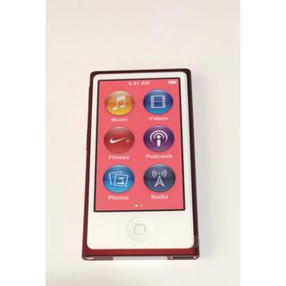アップル(Apple)の② ipod nano 第7世代  レッド(ポータブルプレーヤー)