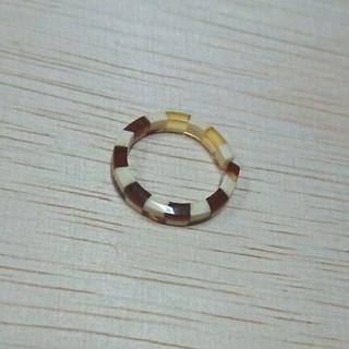 市松模様リング 新品未使用(リング(指輪))
