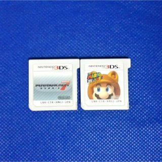 ニンテンドー3DS(ニンテンドー3DS)のマリオ3個セット(携帯用ゲームソフト)
