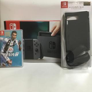 ニンテンドースイッチ(Nintendo Switch)のNintendo Switch ほぼ未使用 fifa19 セット(家庭用ゲーム機本体)