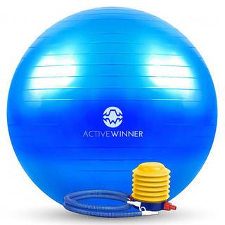Active Winner バランスボール 55cm 65cm ポンプ付き! ヨ(トレーニング用品)