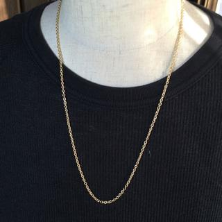 セミロング ゴールドチェーン 60㎝ ネックレス メンズ シンプル(ネックレス)