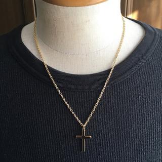 ゴールドクロスネックレス 50cm 三代目 ナノユニバース(ネックレス)