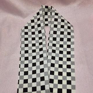 インパクト市松の半衿 グレー(着物)