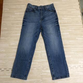 美品 GU ハイウエストストレートジーンズ  XL