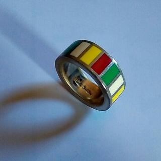 ポールスミス(Paul Smith)のポールスミス ネックレス トップ マルチストライプ マルチカラー リング 指輪(ネックレス)