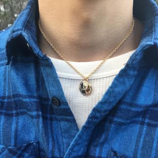 ダブルコイン ネックレス 40cm メンズ ネックレス(ネックレス)