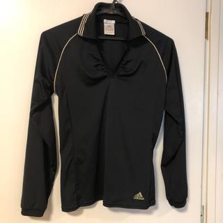 アディダス(adidas)のアディダス  トップス 長袖 黒 レディース  テニス ランニング(カットソー(長袖/七分))