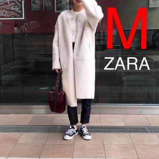 ザラ(ZARA)のZARA  リバーシブルボアコート(ロングコート)