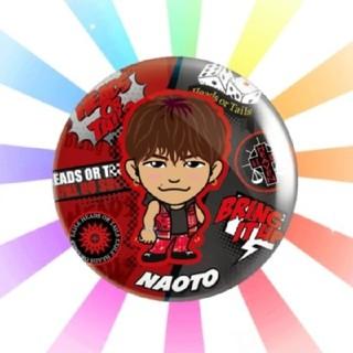 エグザイル(EXILE)のNAOTO 56mm缶バッチレア Heads Or Tails(ミュージシャン)