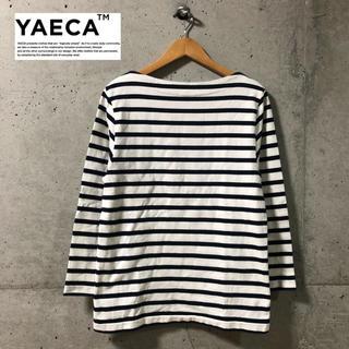 ヤエカ(YAECA)の【YAECA】定番 ボートネックボーダーバスクシャツ M(カットソー(長袖/七分))