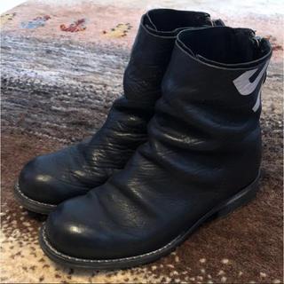 ダークビッケンバーグ(DIRK BIKKEMBERGS)のダークビッケンバーグ ショートブーツ 黒 38 25cm(ブーツ)