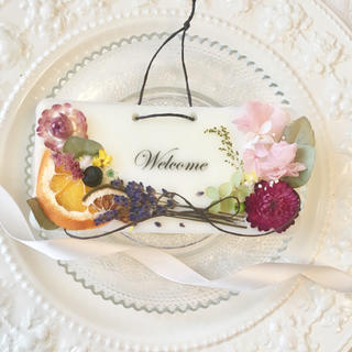 welcome plate ※アロマワックス(アロマ/キャンドル)
