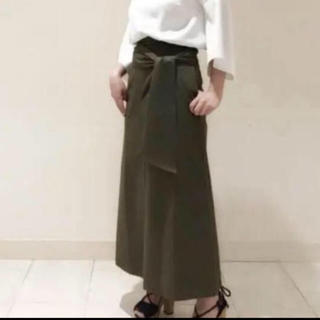 フレイアイディー(FRAY I.D)のBLENHEIM ブレンヘイム カーキ 細見えスカート♡(ロングスカート)