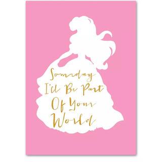 ディズニー(Disney)の【新品未使用】プリンセス アリエル アートポスター A4 額つき(アート/写真)