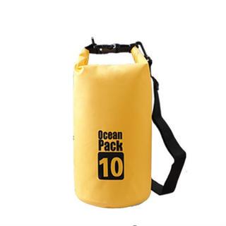 イエロー Ocean Pack ドライバッグ 防水 10L PVC 釣り 防災