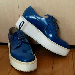 プラダ(PRADA)のプラダ厚底ラバーソール(ローファー/革靴)
