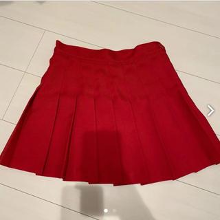 アメリカンアパレル(American Apparel)のアメアパ テニススカート レッド(ミニスカート)