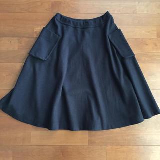 フォーティファイブアール(45R)の45R  ジャージーフラノスカート  (ひざ丈スカート)
