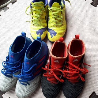 アディダス(adidas)のadidas サッカーシューズ キッズ3足セット(シューズ)