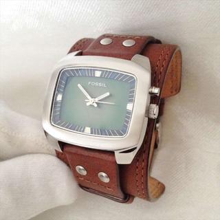 フォッシル(FOSSIL)のフォッシル腕時計 BIGTIC レザーリストバンド 蓄光針 BG-1081(腕時計(アナログ))