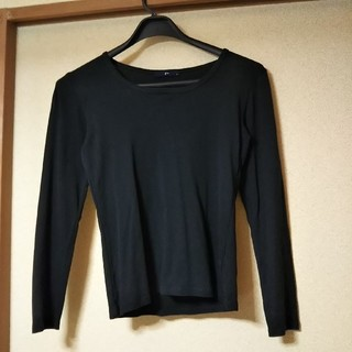 ジーユー(GU)のGU*黒ロンT*S(Tシャツ(長袖/七分))