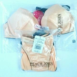 ピーチジョン(PEACH JOHN)のピーチジョン ブラ&パンティ オレンジ 新品未使用品(ブラ&ショーツセット)