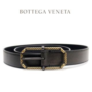 ボッテガヴェネタ(Bottega Veneta)の7 BOTTEGA VENETA ブロンズカラー レザー ベルト 80/32(ベルト)