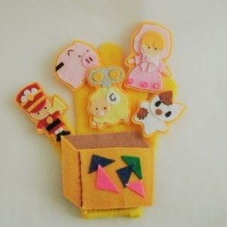 ハンドメイド 手袋シアター おもちゃのチャチャチャ 保育 送料無料(その他)