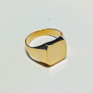 kozy様専用(^∇^) K18YG 印台リング(リング(指輪))